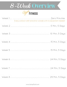 8 week overview fitness