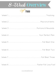 8 week overview Food